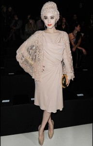 Fan Bing Bing in Elie Saab at Paris Fashion Week March 2011