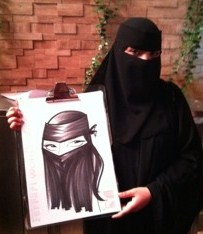 Burqa Caricature
