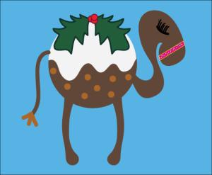 Kay Bruce - Christmas Pudding Camel (c)