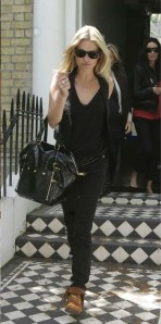 "Kate Moss with YSL trapeze tote ""Downtown"""