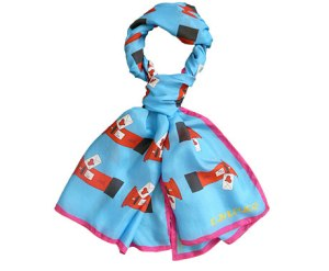 Kay Bruce LOVE LONDON Love Letters Silk Scarf - 20% off! 14th - 18th February ONLY