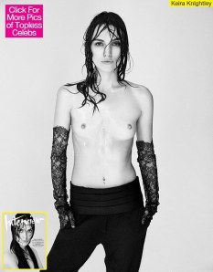 Keira Knightly poses refusing photoshop touch up
